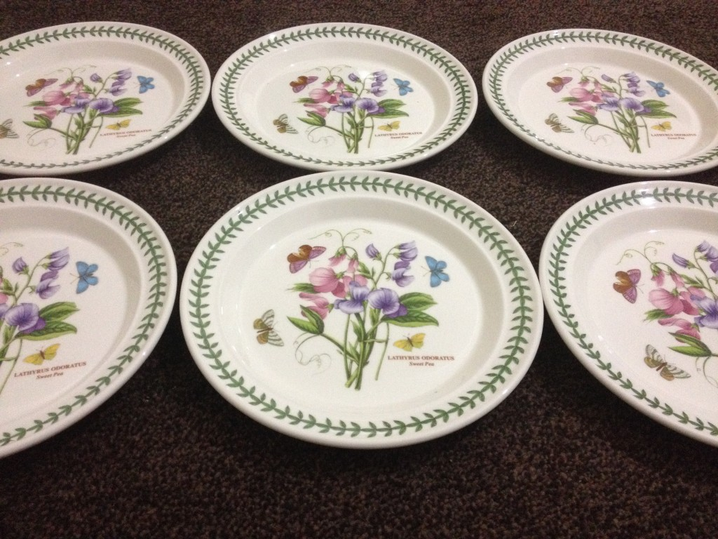 Portmeirion Botanic Garden Dinner Plate Set Sweet Pea